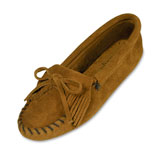 Minnetonka Moccasin Women's Brown Suede Softsole Kilty