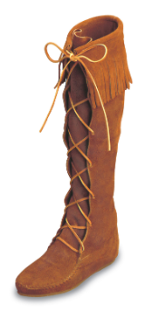 Minnetonka Moccasin Men's Brown Suede Front Lace Hardsole Knee Hi Boot