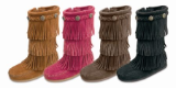 Minnetonka Moccasin Children's 3 Layer Suede Fringe Boot
