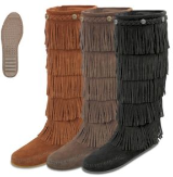Minnetonka Moccasin Women's 5-Layer Fringe Boot