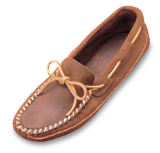 Minnetonka Moccasin Men's Double Bottom Brown Ruff Softsole Mocc