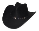 Minnetonka Moccasin Silverton Black Ruff Leather Dude Hat