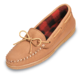 Minnetonka Moccasin Men's Genuine Moose with Fleece Slipper