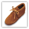 Minnetonka Moccasin Children's Brown Suede Softsole Classic Fringed Boot