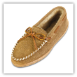 Minnetonka Moccasin Women's Golden Tan Sheepskin Hardsole Moccasin