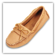 Minnetonka Moccasin Women's Natural Moosehide Driving Moccasin