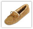 Minnetonka Moccasin Men's Golden Tan Sheepskin Softsole Moccasin