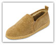 Minnetonka Moccasin Men's Twin Gore Golden Tan Sheepskin Slippers