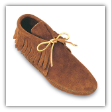 Minnetonka Moccasin Men's Softsole Brown Suede Classic Fringe Boots