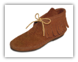 Minnetonka Moccasin Women's Brown Suede Classic Hardsole Fringe Boots