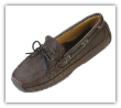 Minnetonka Moccasin Men's Chocolate Moosehide Weekend Mocc