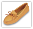 Minnetonka Moccasin Men's Natural  Double Deerskin Softsole