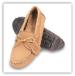 Minnetona Moccasin Men's Natural Moosehide Driving Moccasin