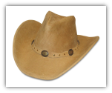 Minnetonka Moccasin Silverton Tan Ruff Leather Dude Hat